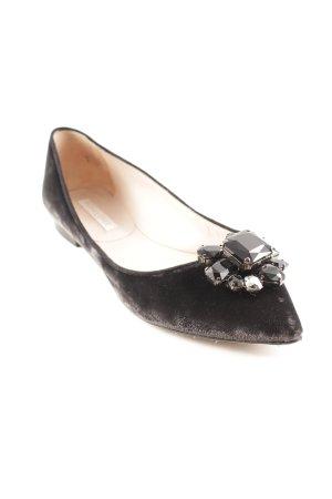 Pura Lopez Schlüpfschuhe schwarz Elegant