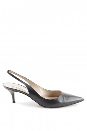 Pura Lopez Slingback-Pumps schwarz Business-Look