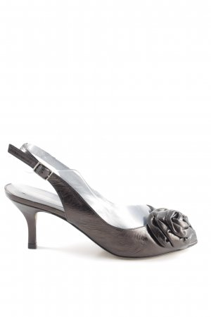 Pura Lopez Slingback-Pumps schwarzbraun Elegant