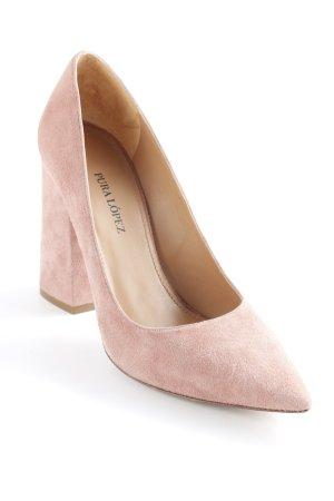 Pura Lopez Décolleté a punta rosa pallido elegante