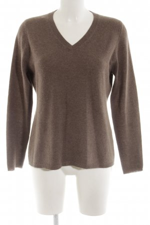 Pure Cashmere Cashmerepullover braun meliert Casual-Look
