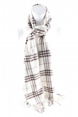 Pure Cashmere Fransenschal Karomuster Casual-Look