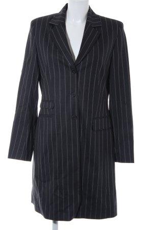 Pure Classic Long-Blazer schwarz-weiß Nadelstreifen Business-Look