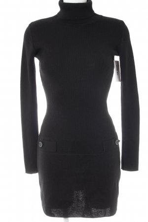 Pure Day Vestito di lana nero stile casual
