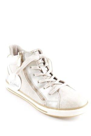 Pure Fasion Sneaker stringata oro-argento Cerniera ornamentale