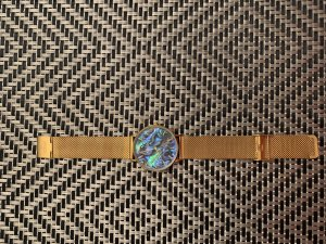 Watch With Metal Strap multicolored