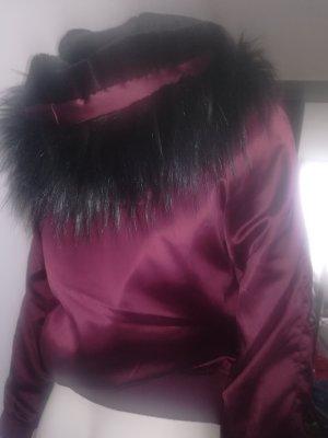 Atmosphere Vestido línea A negro-rojo zarzamora