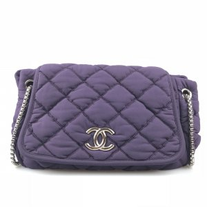 Purple Chanel Shoulder Bag