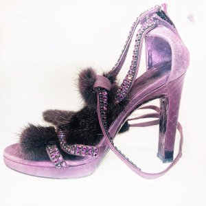 Purple Gucci High Heel