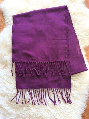 Bufanda de flecos púrpura Poliéster