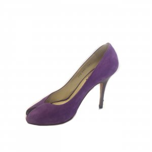 Purple Saint Laurent Evening Shoe