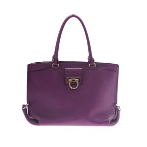 Purple Salvatore Ferragamo Shoulder Bag