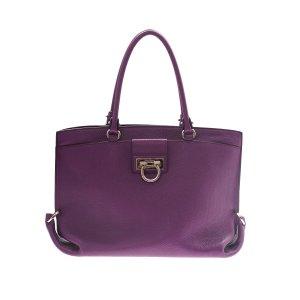Purple Salvatore Ferragamo Shoulder Bag