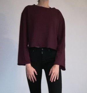 H&M Divided Crewneck Sweater purple mixture fibre