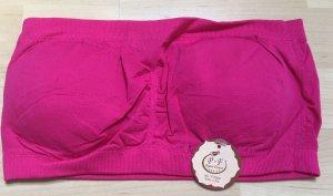 Push-um Bandeau Bustier Top *Gr. L/XL* Pink