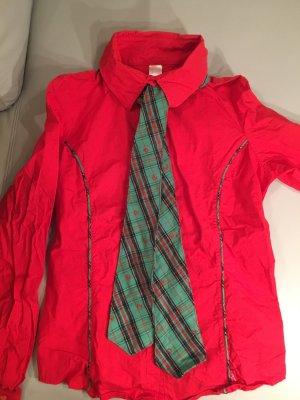 PUSSY DELUXE Bluse langarm mit Krawatte, Gr. L. NEU und ungetragen