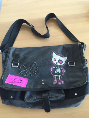 Pussy Deluxe Canvas Bag anthracite-pink