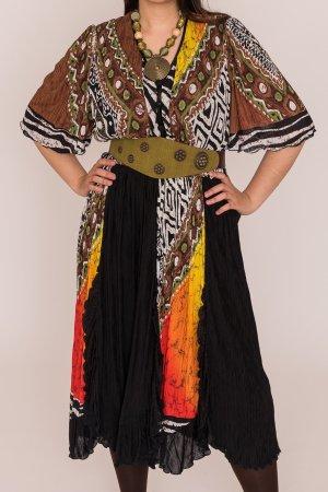 Puszta Gabardina tipo vestido multicolor Viscosa