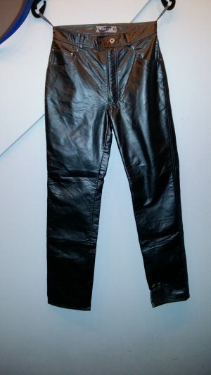 PVC -Lederjeans dunkelsilber-grau gr 38