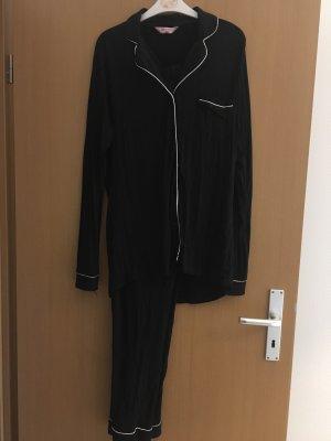 Hunkemöller Pijama negro-blanco
