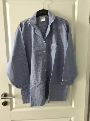 Pyjama wit-blauw
