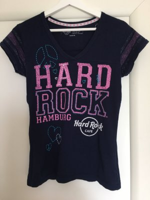 Hard Rock Cafe Pijama azul oscuro-rosa