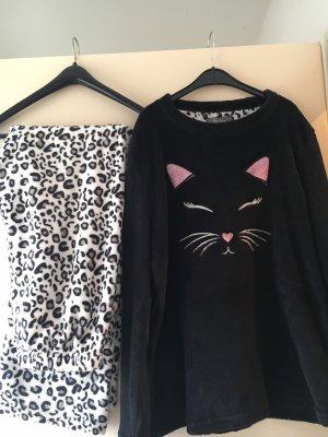 Primark Pijama negro-blanco