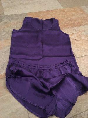 Pyjama in lila von Flip Flop Seide