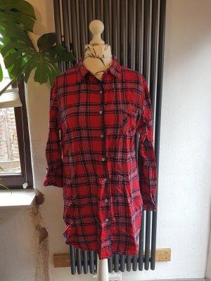 Pyjama Kleid Nachthemd Gr. L kariert Atmosphere
