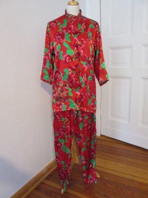 Pyjama Schlafanzug 3 Suisse Gr. 36/38 Satin Asia Look