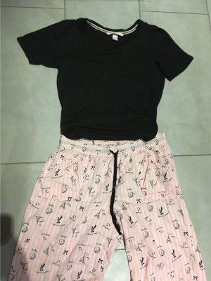 Victoria's Secret Pigiama nero-rosa