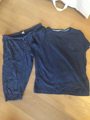 Pyjama Set Nachtwäsche bequem T-Shirt und Hose Gr. L