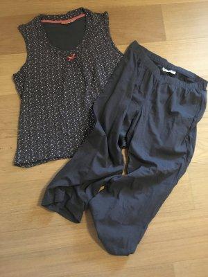 Pyjama Set Nachtwäsche bequem Top und Hose Gr. 36/38
