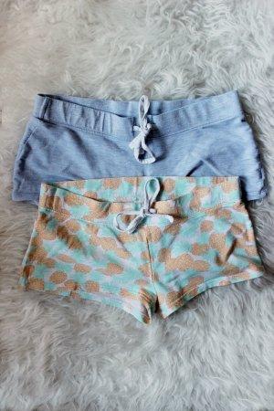 Pyjama Shorts Set hellblau Ananas Print H&M 36 S