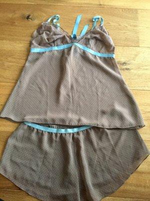Triumph Pyjama gris brun-bleu clair