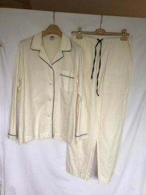 La perla Pijama blanco puro Algodón
