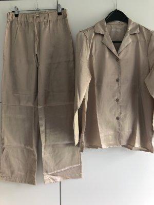 Tchibo / TCM Pyjama beige clair-beige polyester