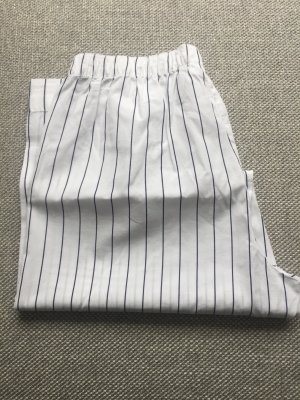 Zara Pyjama white-dark blue cotton