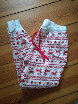 Pyjamahose Sweathose Weihnachtsmotiv