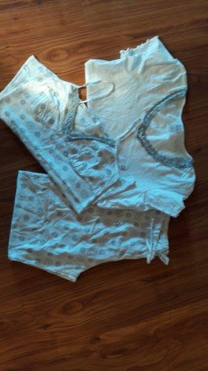 Pyjamaset, Schlafanzug, 3-teilig