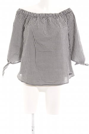 Q/S Carmen Blouse black-white check pattern casual look