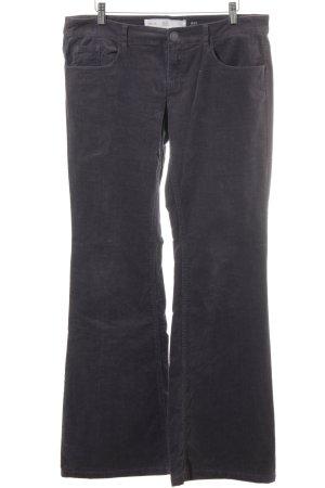 Q/S Pantalon en velours côtelé gris foncé-gris style décontracté