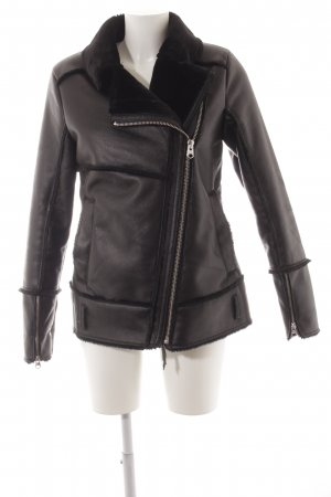 Q/S Flight Jacket black biker look