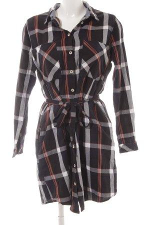 Q/S Robe chemise motif à carreaux style décontracté