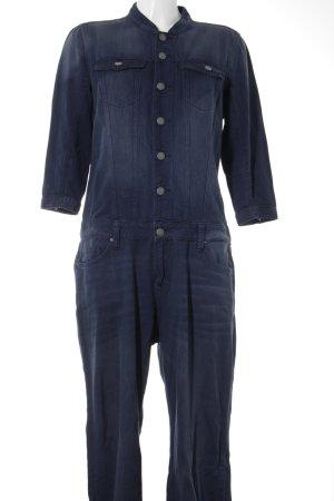 Q/S Jumpsuit dunkelblau-stahlblau Jeans-Optik