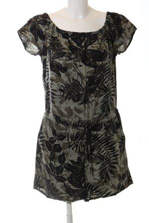Q/S Jumpsuit silberfarben-khaki Allover-Druck schlichter Stil
