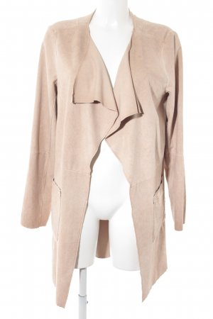 Q/S Cappotto in pelle color carne stile casual