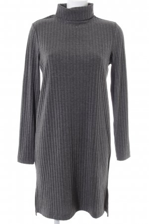 Q/S Sweater Dress grey striped pattern casual look