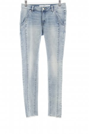 Q/S Slim Jeans kornblumenblau Used-Optik