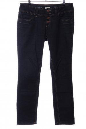 Q/S Straight-Leg Jeans blau Business-Look